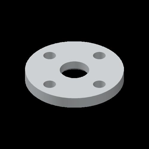 Losflansch, Aluminium nach EN 573, EN AC-AlSi12(Cu)K/S, ISO Typ C, i.A. DIN 2642