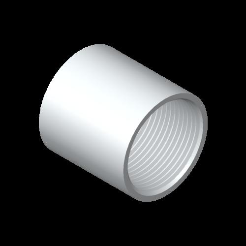 Muffe, 1/2″ Ø30, L=30, 6060