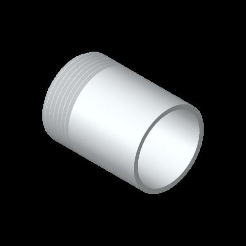 Nippel, 1/2″ Ø25, L=50, 6060