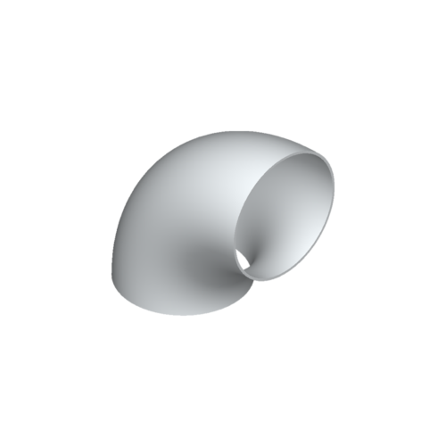 Bogen, 75×5,0, 90°, N2, 6060