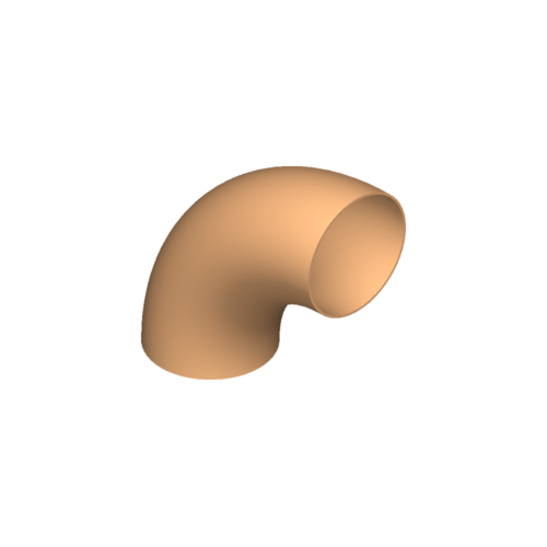 Bogen, 38×3,0, 90°, N3, Cu-DHP