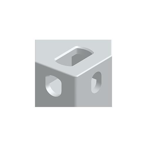 Eckbeschlag, Aluminium nach EN 755, EN AW 7020-T6, oben rechts, nach ISO 1161