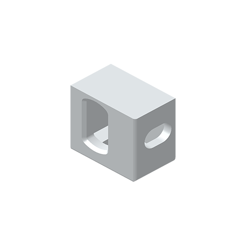 Eckbeschlag, Aluminium EN 755, EN AW 7020-T6, unten links, i.A. ISO 1161