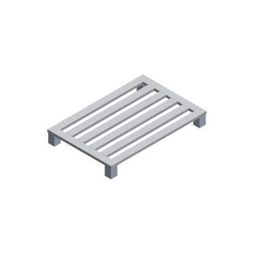 Aluminium-Palette 1200x800x150 mm, 4EF/4 LS