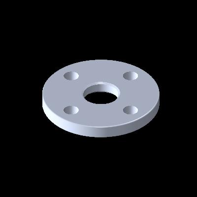 L-Flansch, ISO Typ C, DN 10, EN AC-AlSi12
