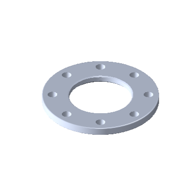 L-Flansch, DIN Typ A, DN 80, EN AC-AlSi12